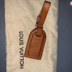 Authentic Louis Vuitton mini luggage tag charm